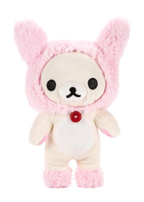 Korilakkuma Pink Bunny Ears Plush Stuffed Animal