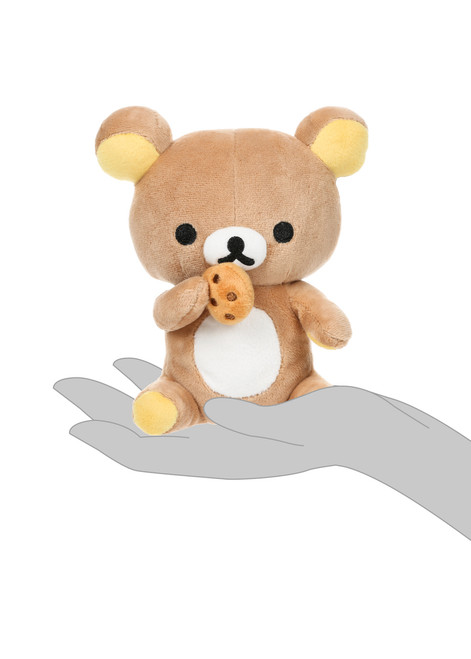 Rilakkuma Eating Biscuit Plush Stuffed Animal