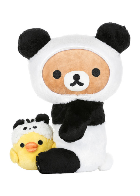 Rilakkuma Panda with Kiiroitori Plush Stuffed Animal