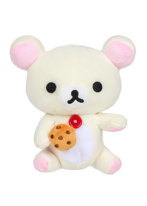 Korilakkuma Eating Biscuit Cookie Plush Stuffed Animal