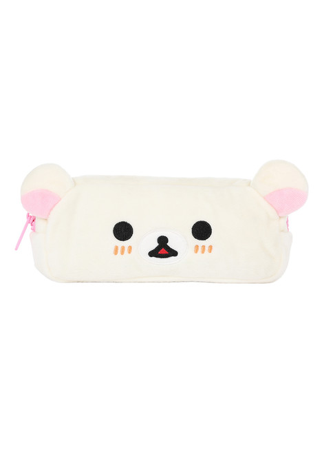Korilakkuma face cosmetic and/or pencil case front facing