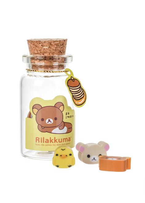 Rilakkuma Mini Erasers in a Jar