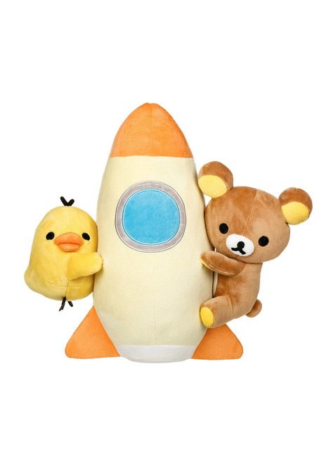 Rilakkuma Kiiroitori Space Ship Rocket Plush Stuffed Animal