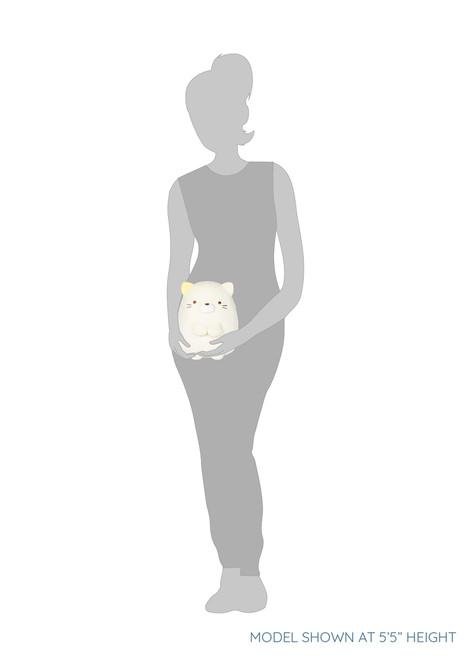 Neko White Cat Stuffed Plush Animal - Medium