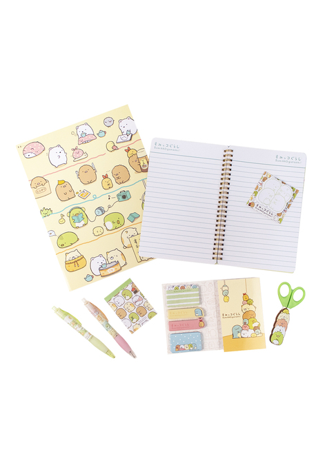 Sumikko Gurashi™ Notebook + Stickies Stationery Set