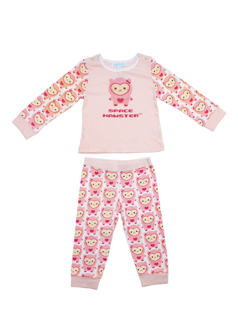 Space Hamster™ Ruby Pink Child Pajama PJ Set