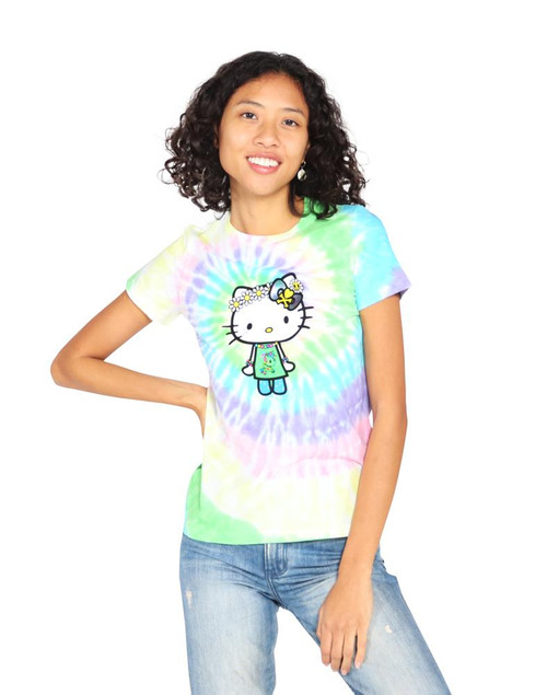 tokidoki and Sanrio Hello Kitty Far Out Tie Dye T-shirt for women