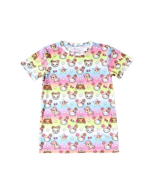 tokidoki x Hello Kitty  -  Hello Kitty Goes Donuts Boy Fit Women's T-Shirt