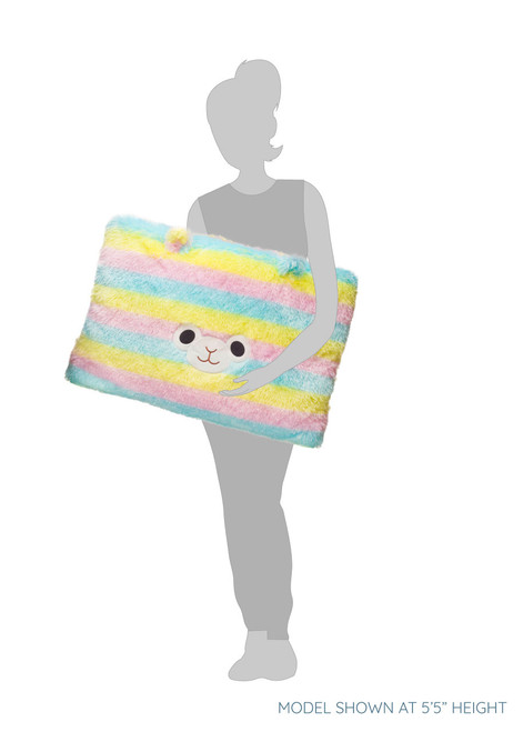 Amuse Rainbow Alpaca Head Plush Pillow