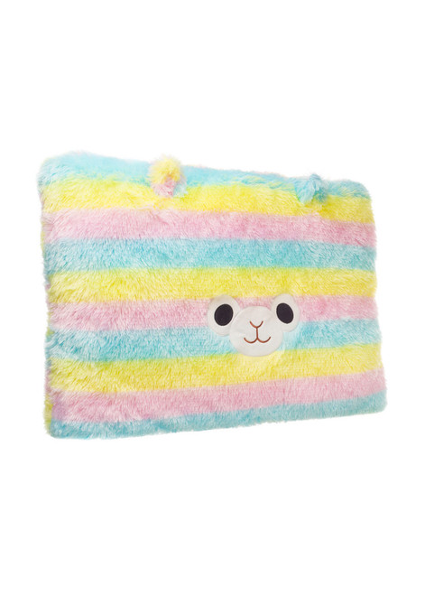 Amuse Alpacasso Rainbow Alpaca Head Plush Pillow