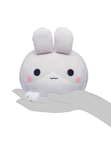 Honeymaru Grey Mochi Bunny Plush