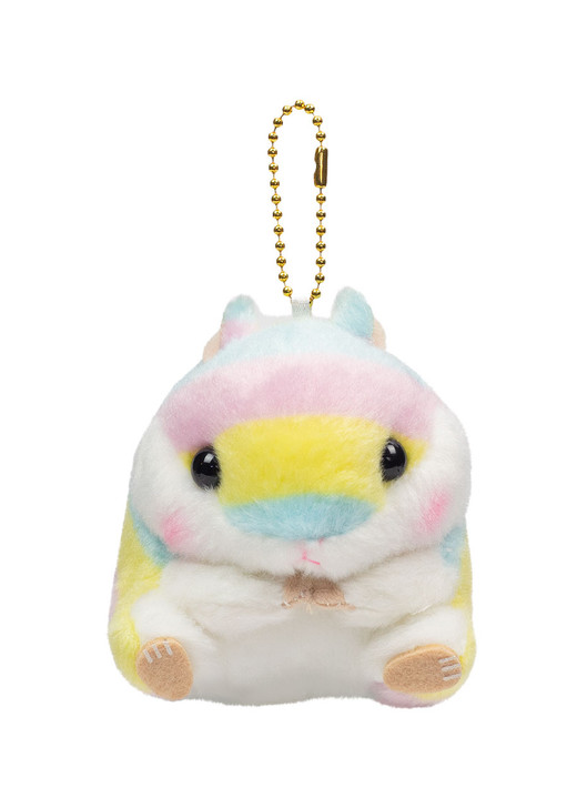 Amuse Rainbow Hamster Plush Keychain Front Shot