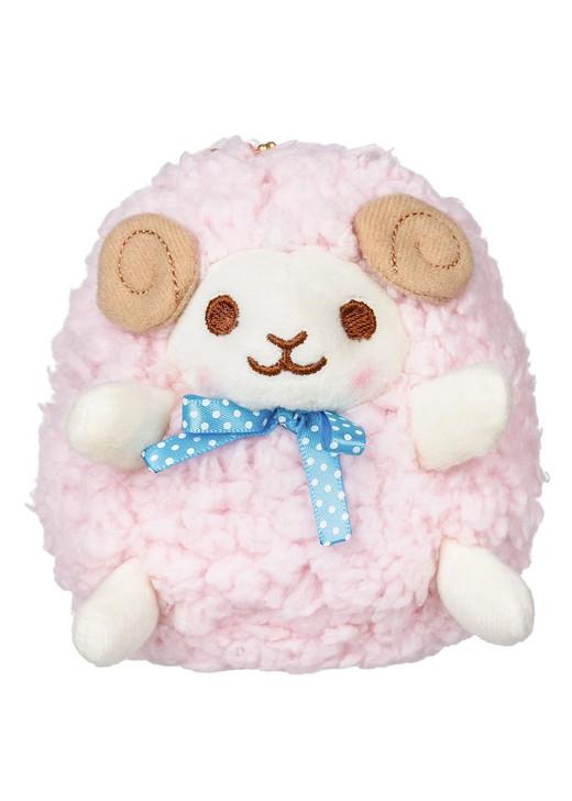 Amuse Pink Sheep Plush Stuffed Keychain