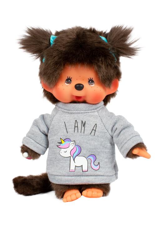 Monchhichi Girl w/ Unicorn Sweater Plush Toy
