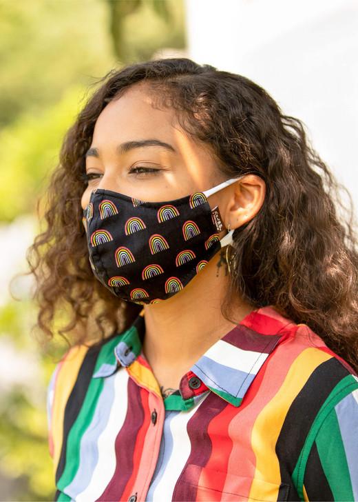 Honeymaru Rainbow Face Mask w/ Model