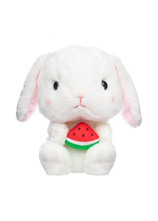 Amuse Shiroppi Bunny Sitting Down Eating Watermelon - Front