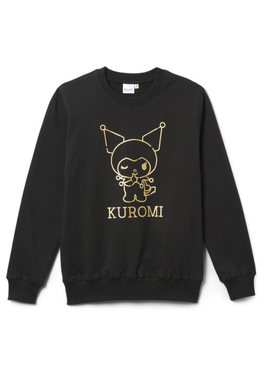Hello Kitty Kuromi Pullover Sweater Black Front Angle