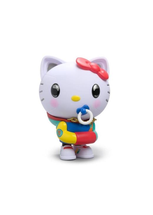 Hello Kitty x Quiccs Art Figurine - Neon Camo Edition Front Angle