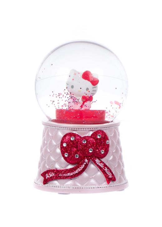 Hello Kitty 45th Anniversary Snow Globe Front Angle