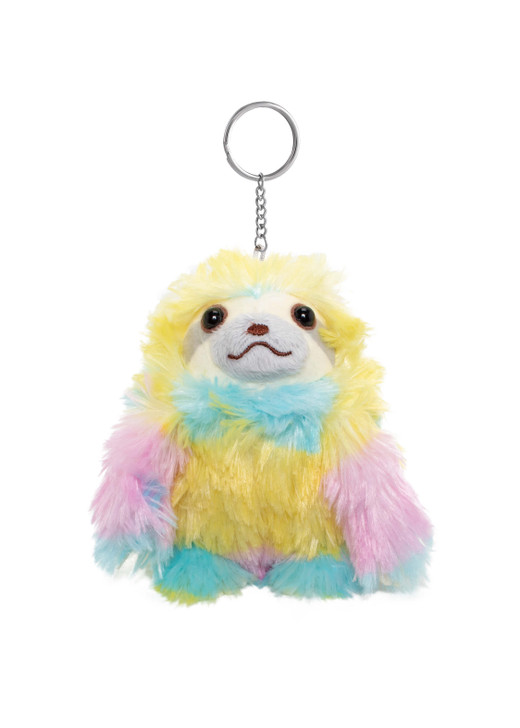 Amuse Rainbow Sloth Keychain - Front Angle