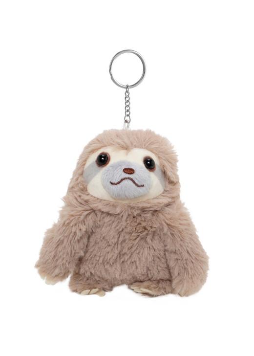 Amuse Tan Sloth Plush Keychain - Front Angle