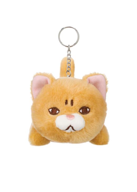 Amuse Mini Kinako Cat Plush Keychain Front Angle
