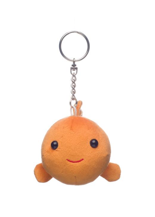 Amuse Mini Kumanomi Clown Fish Plush Keychain Front Angle