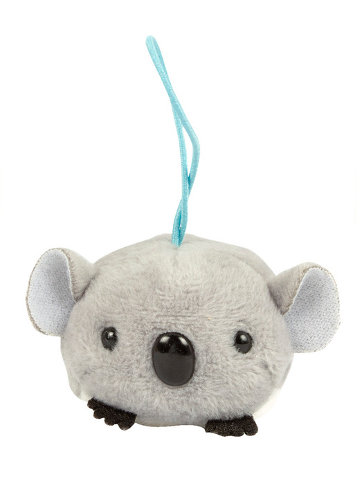 Amuse Koala Bean Elastic Plush Keychain Front Angle