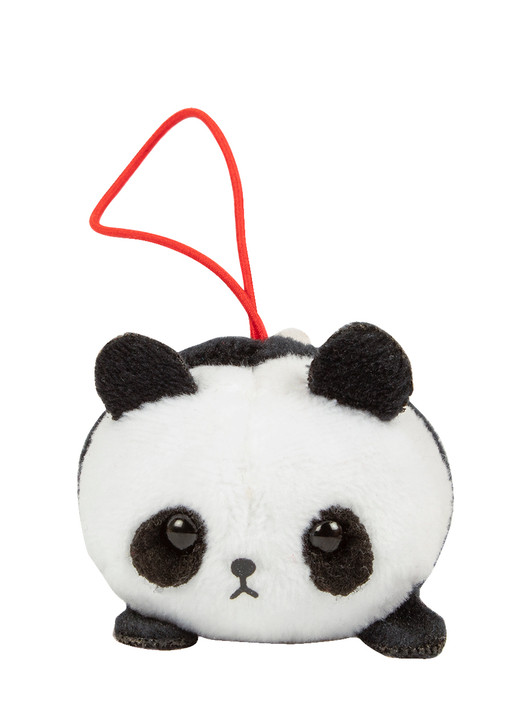 Amuse Panda Bean Plush Elastic Keychain Front Angle
