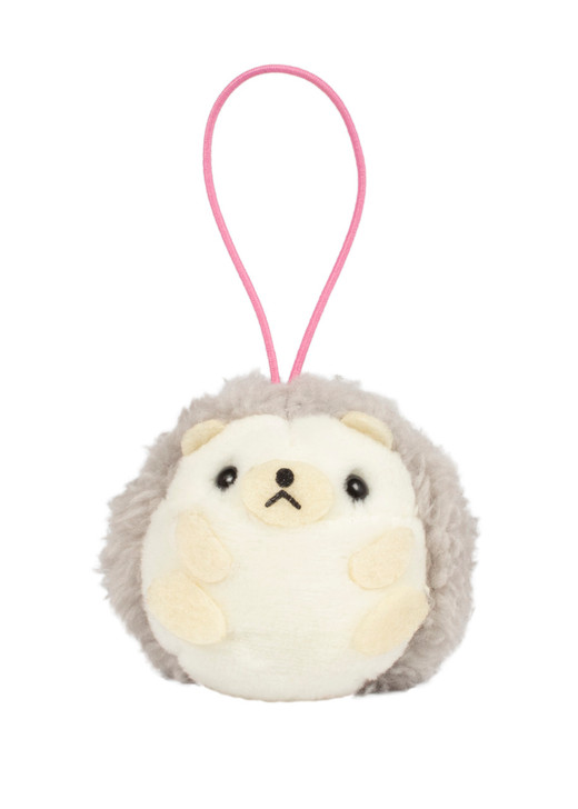 Amuse Hedgehog Bean Filled Elastic Keychain Front Angle