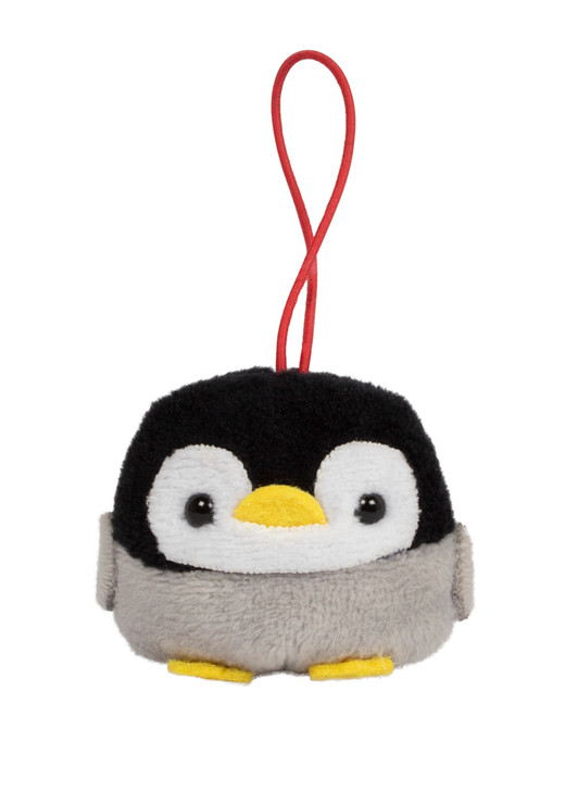 Amuse Penguin Bean Filled Plush Keychain Front Angle