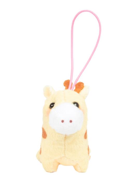 Amuse Bean Filled Giraffe Plush Keychain Front Angle