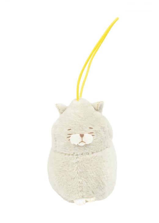 Amuse Bean Filled Hotoke Cat Plush Keychain Farm Series 1 Front Angle