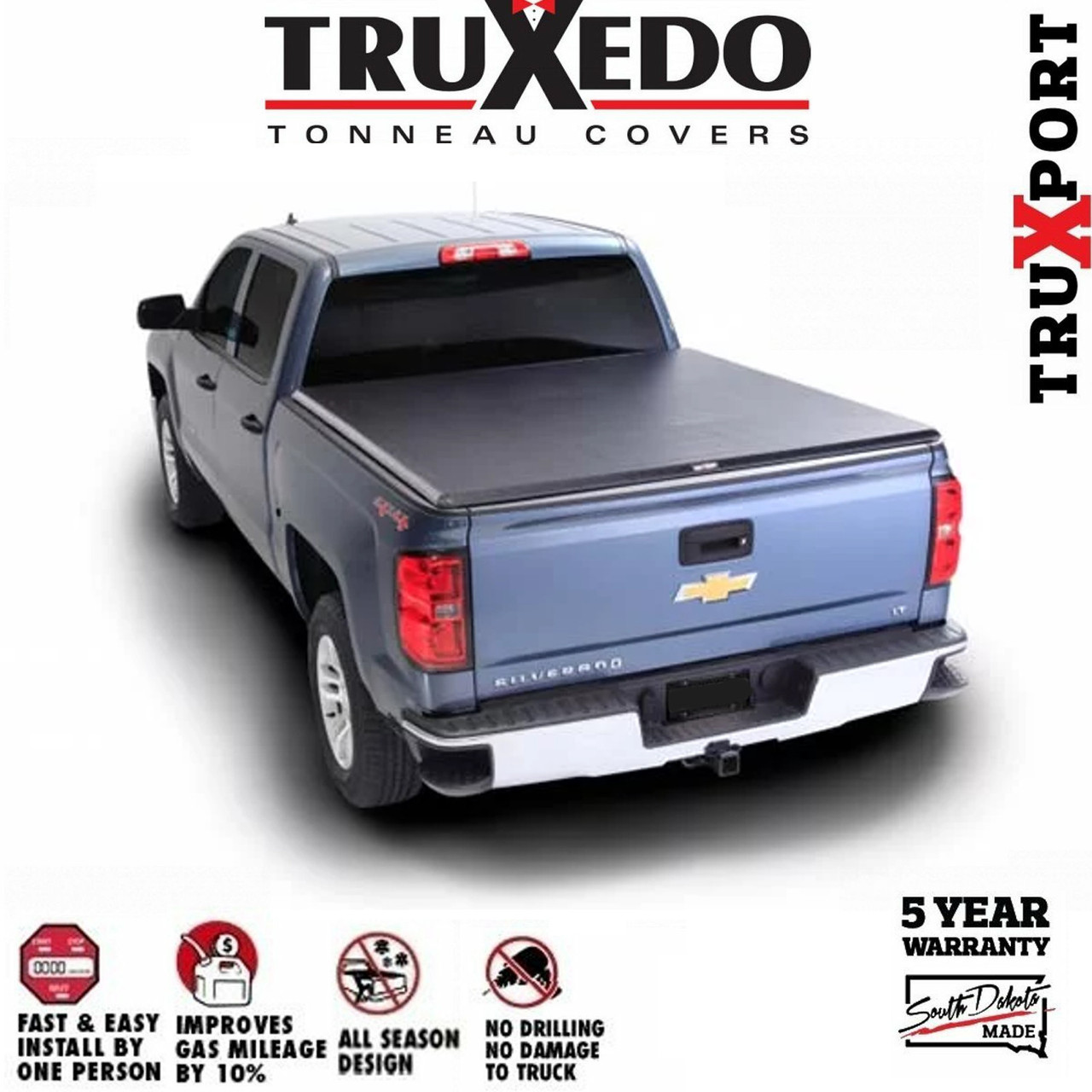 Truxedo Truxport Roll Up Tonneau Cover 1999 2006 Gmc Sierra Hd 8ft Bed
