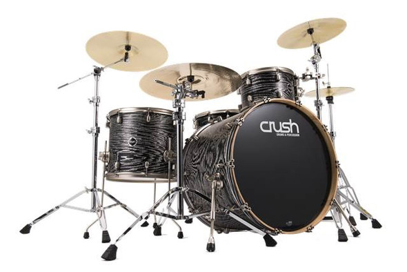 DRUM SET CRUSH SMA406207 SUBLIME TRANS STAIN BLACK WITH SILVER SPARKLE