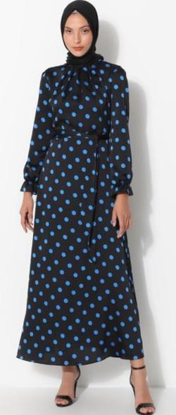 Dress Blue Polka Dots