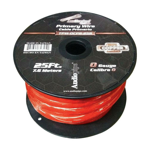 POWER CABLE CAR 0G TPW-0CPR-100R 100% COPPER AUDIO PIPE SOLD PER YARD