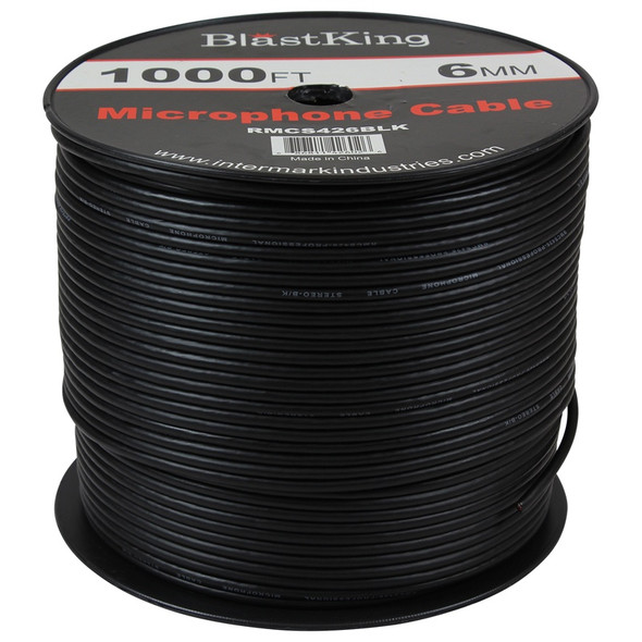 MICROPHONE CABLE I-RMCS426BLK YDS 6MM SOLD PER YARD