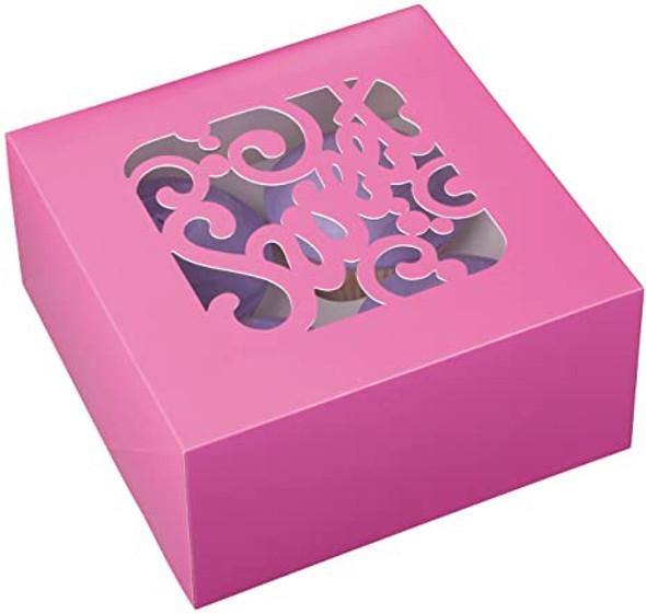 "BAKING WILTON CUPCAKE BOXES 3PCS 6.25"" X 6.25"" X 3"" HOLDS 4 CUPCAKES 415-0946"