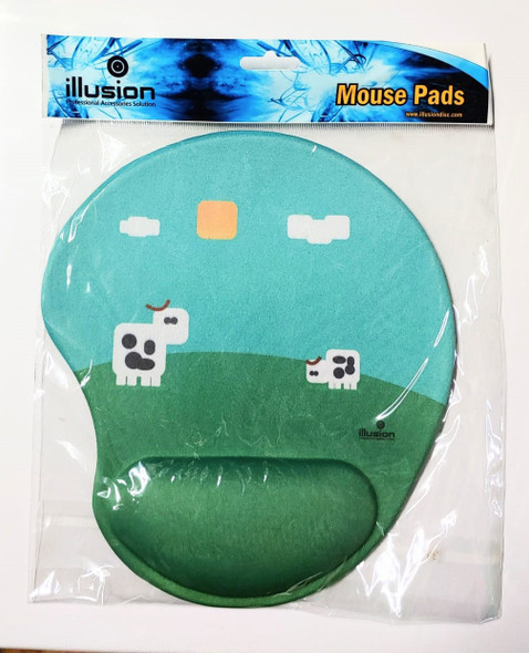 COMP. MOUSE PAD ILLUSION COWS 1011 GEL+FAB