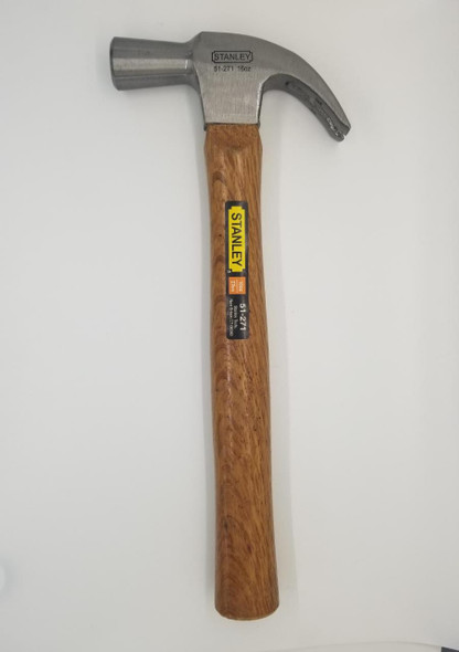 HAMMER CLAW STANLEY 51-271 16OZ WOOD HANDLE