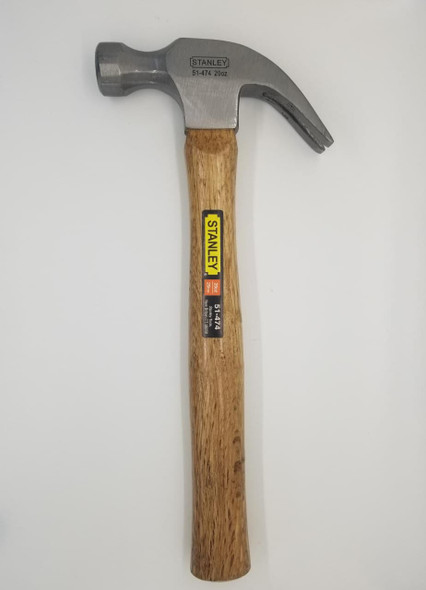 HAMMER CLAW STANLEY 51-474 20OZ WOOD HANDLE