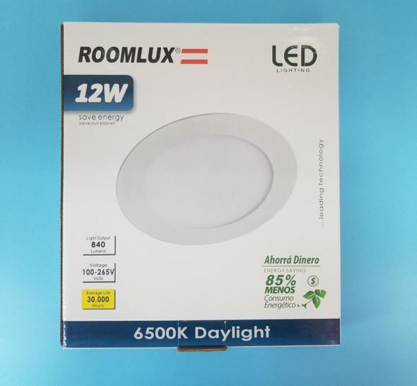 LIGHT LED PANEL ROOMLUX 12W RND FLAT 6500K