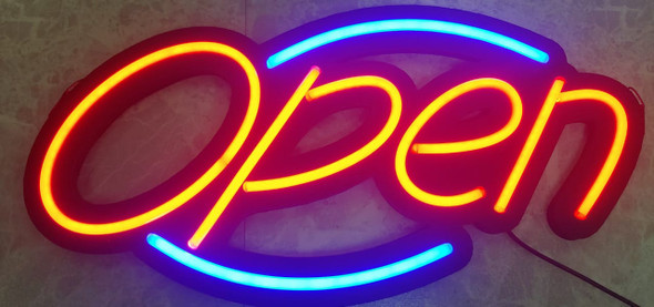 SIGN OPEN LED NEON OVAL