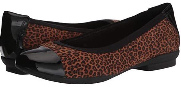 Footwear Clarks Women Sara Orchid Leopard Ballet Flat