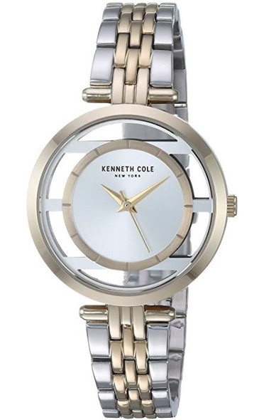 Watch Women Kenneth Cole New York Transparency Japanese-Quartz Stainless-Steel Strap, Two Tone KC50922002