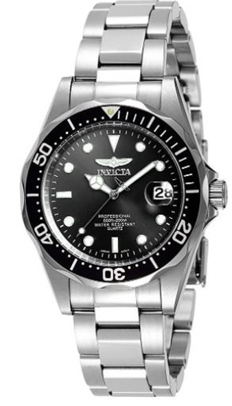 Watch Men Invicta Pro Diver 37.5mm Stainless Steel Quartz Silver 8932