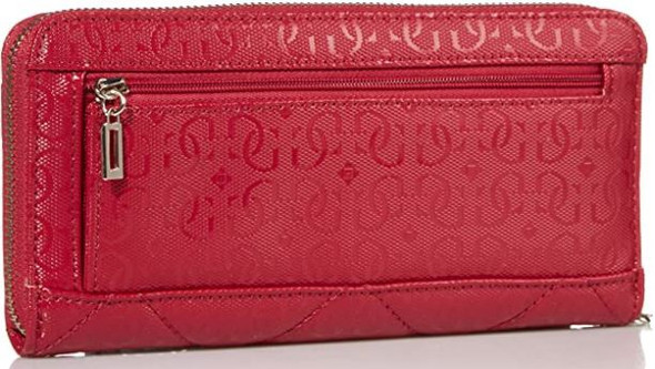 Wallet Women GUESS Dilla Large Zip Around Berry