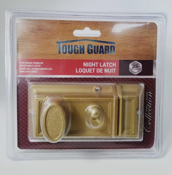 LOCK NIGHT LATCH GOLD TOUGH GUARD TOOLWAY