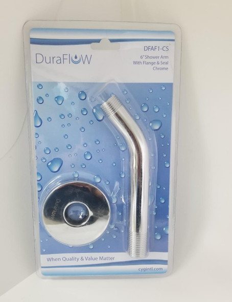 SHOWER ARM DURAFLOW W/FLANGE DFAF1-CS CHROME